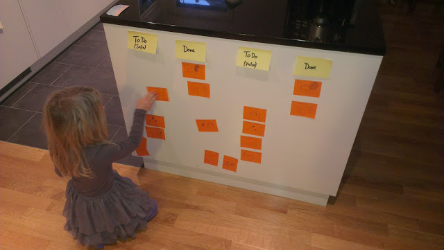 kid with scrum board