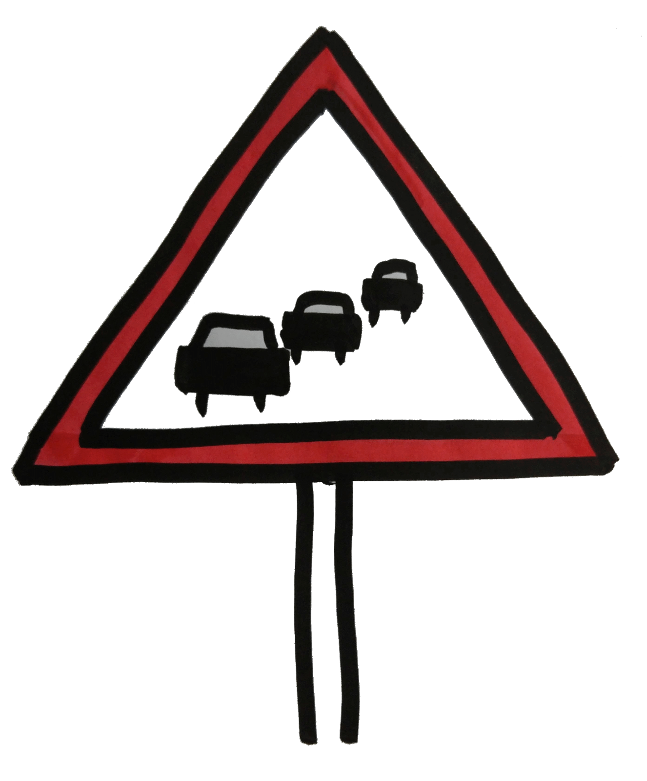 Traffic queueing sign